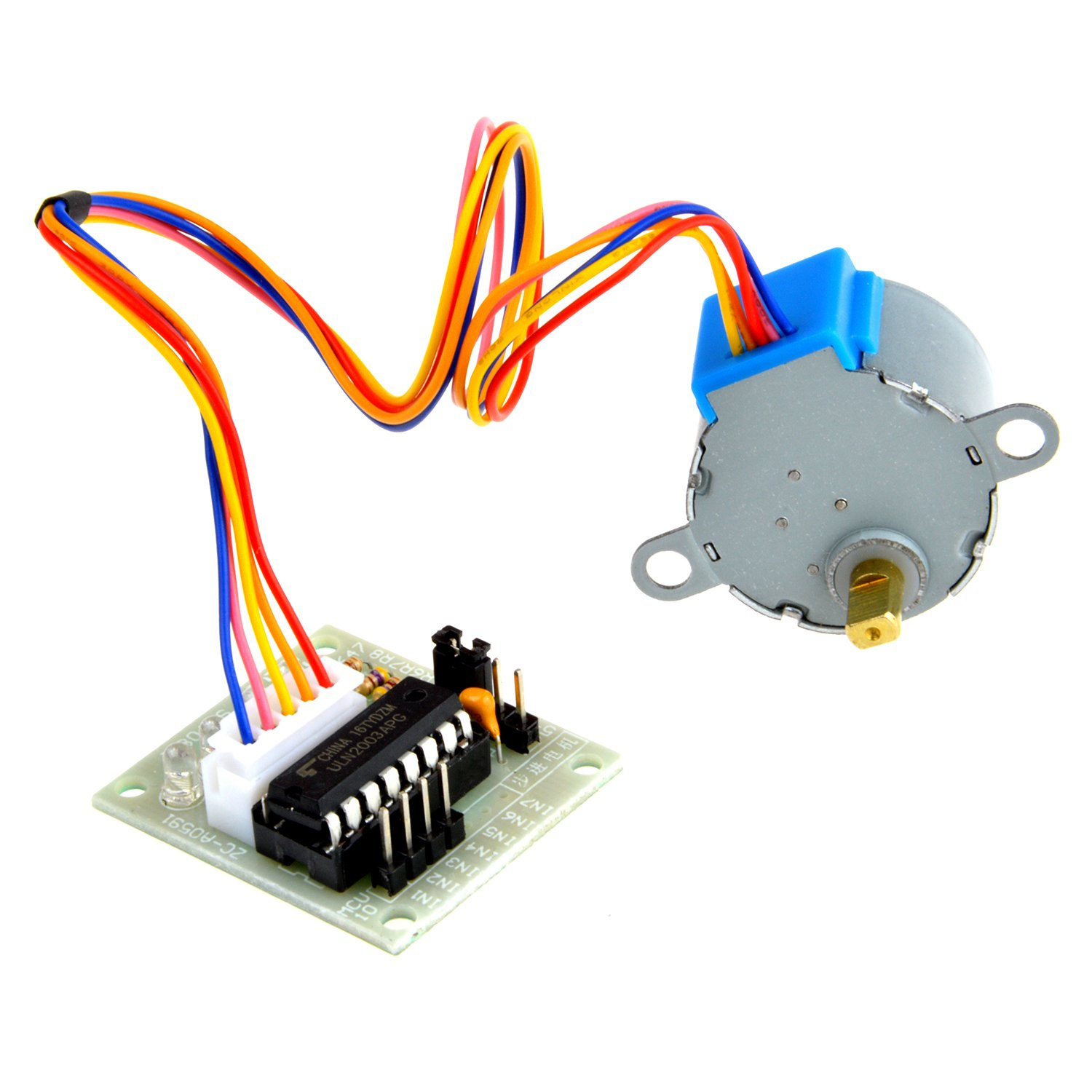 Neuftech DC 5V 4 Phase 5 Cable Stepper Motor 28BYJ-48 and driver board ULN2003 module for Arduino EU-ULN2003 Driver +Step motor