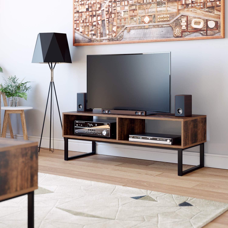 Homfa Mueble TV Salón Mesa para TV Armario Salón Mesa Centro Vintage Industrial 108x40x40cm: Amazon.es: Hogar