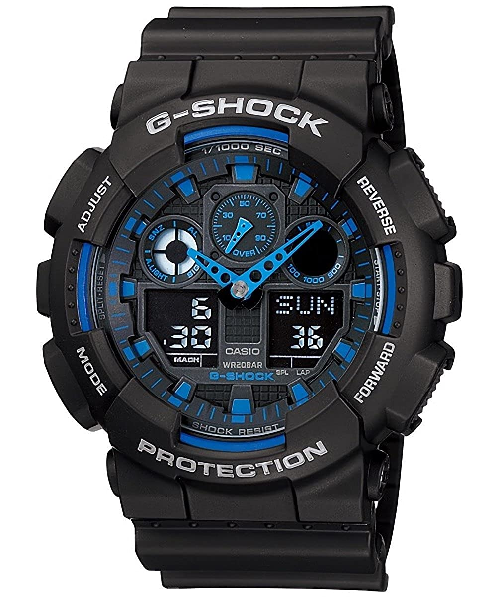 c4598a033 Buy Casio G-Shock Analog-Digital Blue Dial Men's Watch - GA-100-1A2DR  (G271) Online at Low Prices in India - Amazon.in