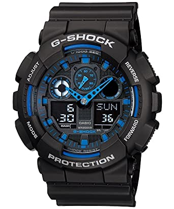 6c8e5c0ed Buy Casio G-Shock Analog-Digital Blue Dial Men s Watch - GA-100-1A2DR  (G271) Online at Low Prices in India - Amazon.in