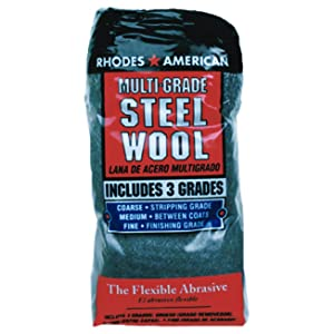 Rhodes American 10121114 Assorted Steel Wool Pads, 12-Pack