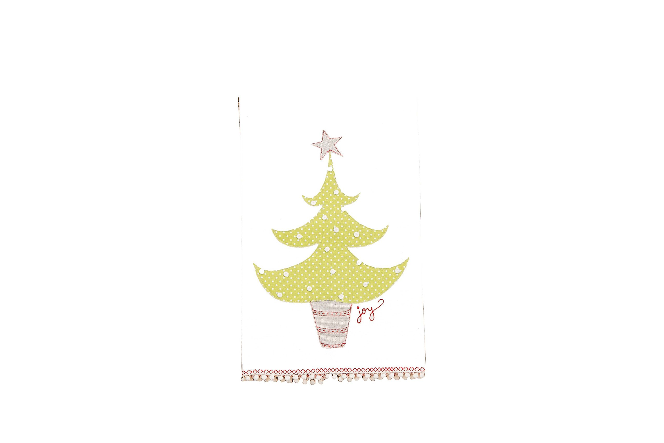 Glory Haus 7090519 Joy Christmas Tree Tea Towel, Multicolor