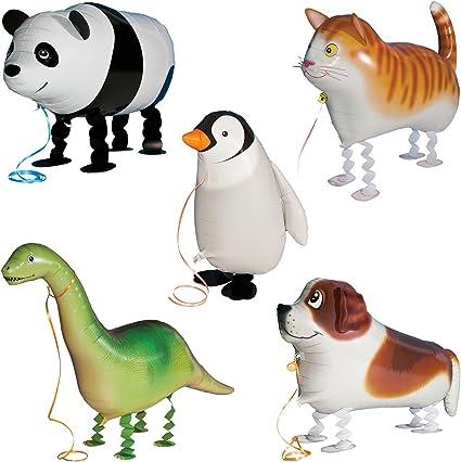 Amazon.com: 5 globos de animales para caminar, para fiestas ...