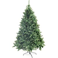 Ariv Green Hinged Christmas Tree 2.1M 7FT Xmas Tree 1540 Tips Bushy Branches Metal Stand Easy Assemble Chistmas Gift