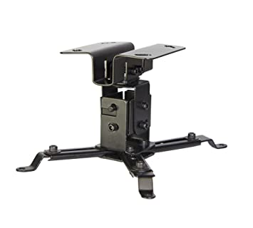 Luxburg® Kit de Soporte de Techo Universal para proyector (Aluminio – soporta 15 kg 30 Grados Negro)