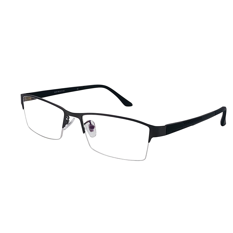 3aeafa3431 XYAS Metal Mens Glasses Frames Clear Lens Reading Business Glasses Square  Front Half Rim Full Rim Super Light High Quality  Amazon.co.uk  Clothing