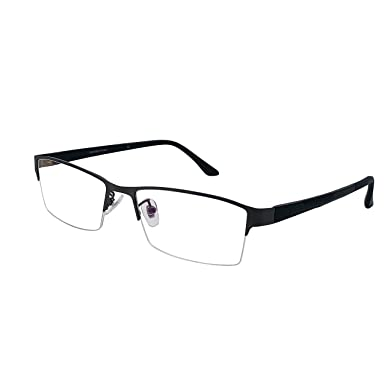 XYAS Metal Mens Glasses Frames Clear Lens Reading Business Glasses ...