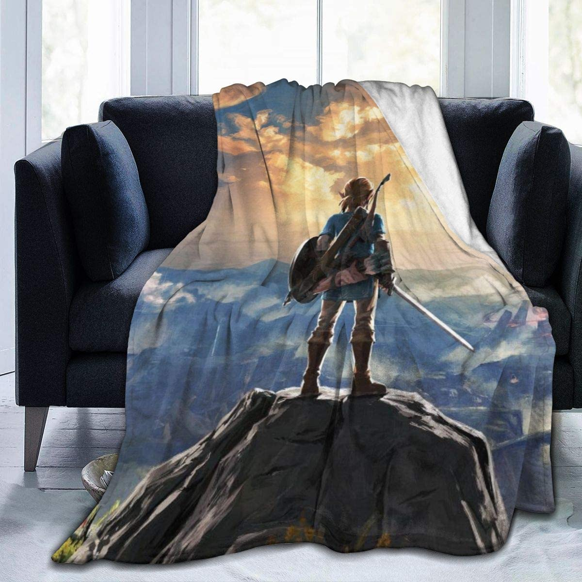The Legend of Zelda Breath of The Wild Sunset Ultra-Soft Micro Fleece Blanket Throw Super Soft Anti-Pilling Lightweight Sofa Plush Bed Couch Living Room