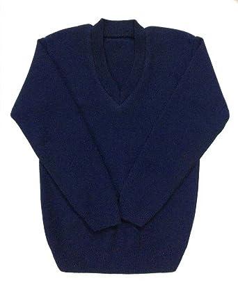 c02889af Ashish Oswal Boys' School Uniform V-Neck Woollen Sweater (Navy Blue, 2