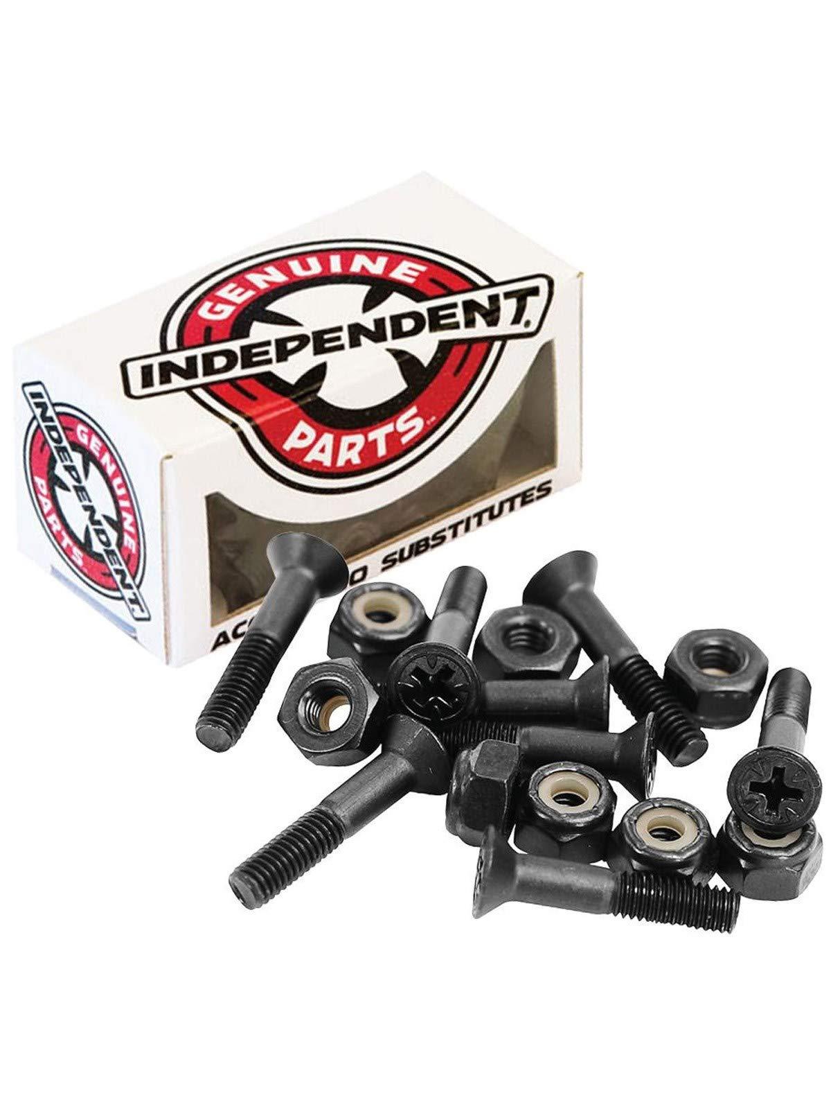 Independent Genuine Parts Cross Bolts Standard Phillips Skateboard Hardware (Black/Black, 1'') by Independent (Image #1)