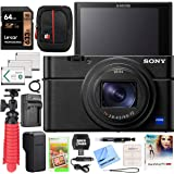 Sony Cyber-Shot RX100 VII RX100M7 Premium Compact Camera DSC-RX100M7 Enhanced Bundle with Triple 3X Battery Pack + 64GB Memor