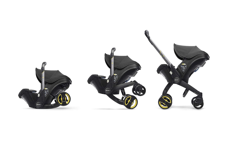 Doona Car Seat Group 0-1 and Pram – Fast Conversion from Baby Car Seat to Pram and Pram to Car Seat. Nitro Black - UK Version SP150-20-033-002