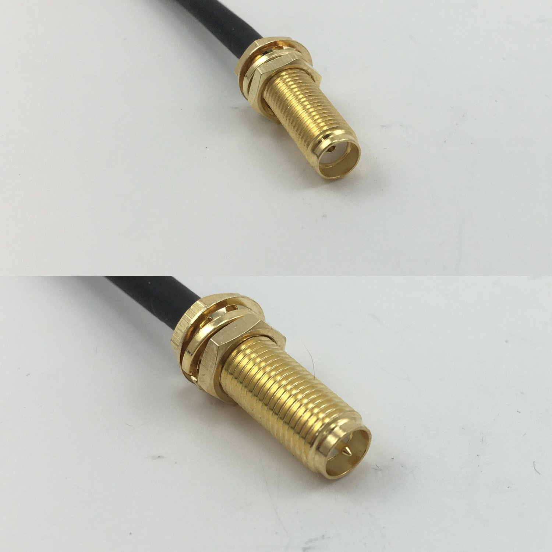 RG316 SMA - Cable coaxial de Alta Calidad (Hembra de Largo a RP ...