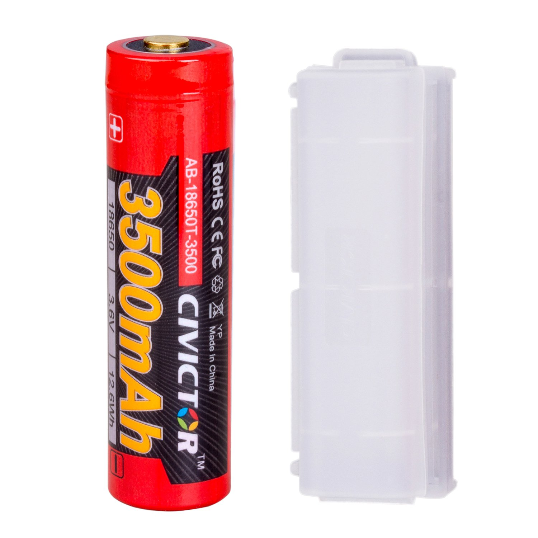 Protected 18650 Rechargeable Battery - Panasonic Sanyo 3.7v 18650 Battery Li-ion 18650 Lithium-ion Battery - 3.6v 3.7 volt Li-ion Battery 18650 Lithium battery Button Top - 3500mah High Drain Flashlight 18650 batteries Rechargeable Baterie 18650 3.7 Single