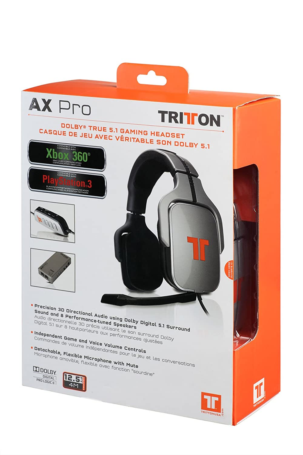 ac28f992229 Tritton AX Pro Dolby Digital Precision Gaming Headset for Xbox 360 and PS3  - Standard Edition: Xbox 360 Accessories: Amazon.ca: Computer and Video  Games