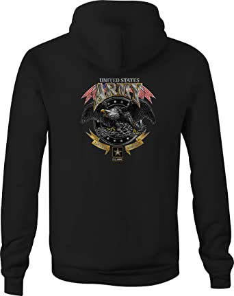 US Army Loyalty Respect Eagle With Crest Graphic T-shirts Tee