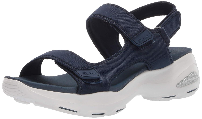Blau (Nvy) Skechers D'lites Ultra-Camp Cool, Sandalias de Punta Descubierta para damen