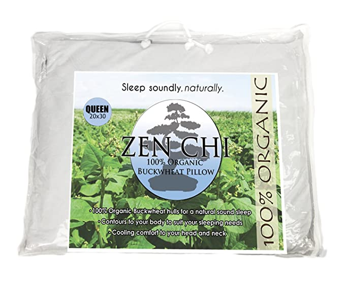 Zen Chi Organic Buckwheat Hulls Pillow - Affordable and Comfortable