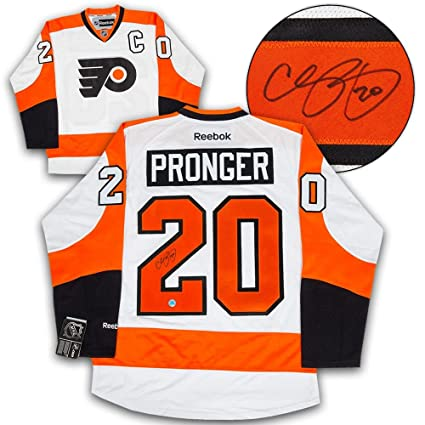 923fbfee7 Autographed Chris Pronger Jersey - White Reebok Premier - Autographed NHL  Jerseys at Amazon's Sports Collectibles Store