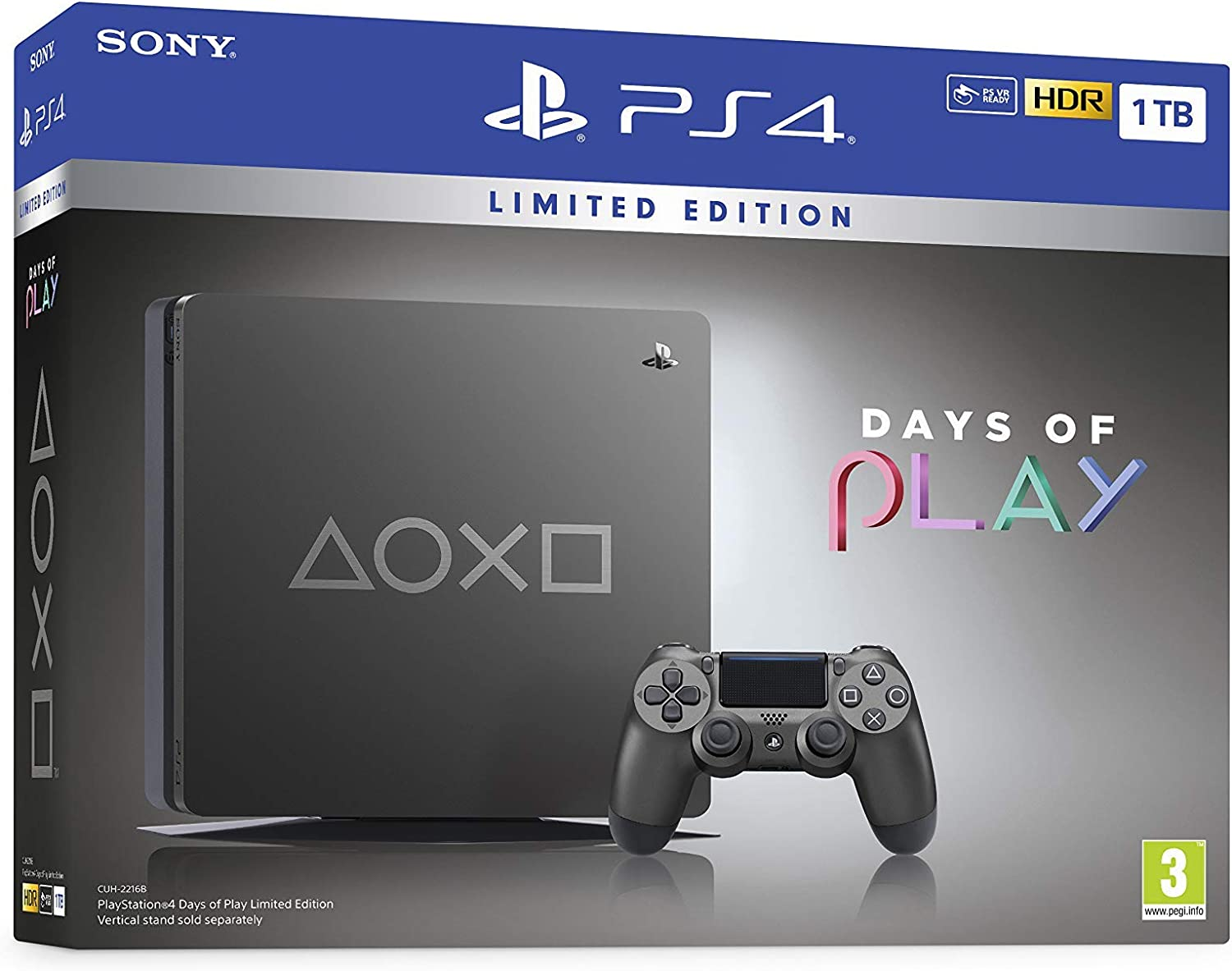 PlayStation 4 - Consola de 1TB (PS4) Edición Days of Play: Amazon ...
