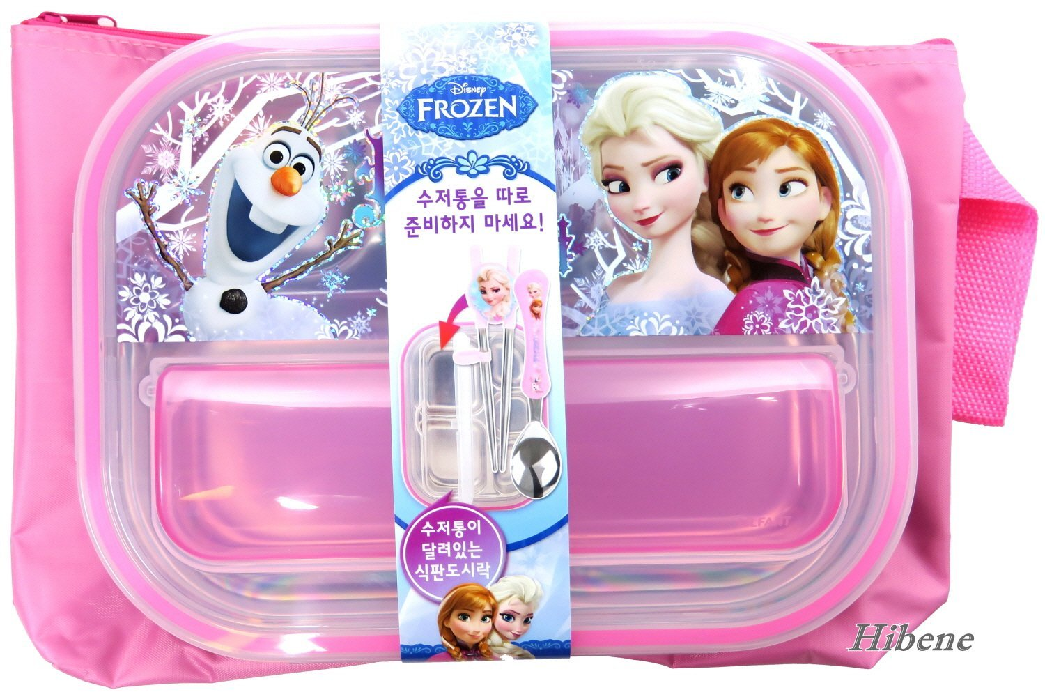 Disney Frozen Stainless Steel Kids School, Camping Food Tray Lunch Box by Lilfant   B01H0J7KM4