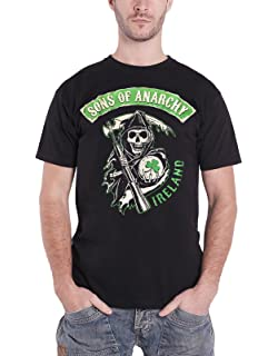 Authentic SONS OF ANARCHY Ireland Screenprinted Long Sleeve Shirt S 3XL NEW