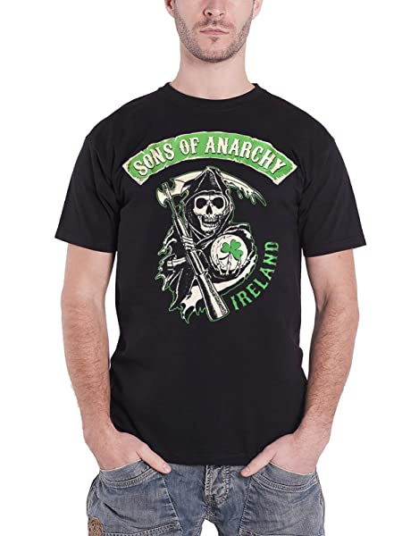 Sons Of Anarchy T Shirt Ireland Irish Badge Logo S Black