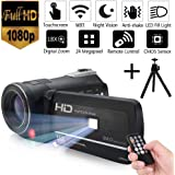 Night Vision Camcorder 24MP Infrared Camcorder 1080P Full HD Video Camcorder 18X Digital Zoom with Wifi 3inch Lcd Touchscreen