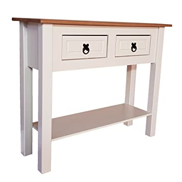save off e913a 1e641 Mercers Furniture Corona Cream Painted 2 Drawer Console Table, pine, 88 x  32 x 73 cm