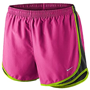 Nike Tempo Shorts - Women's Hot Pink/Black/Volt/Matte Silver