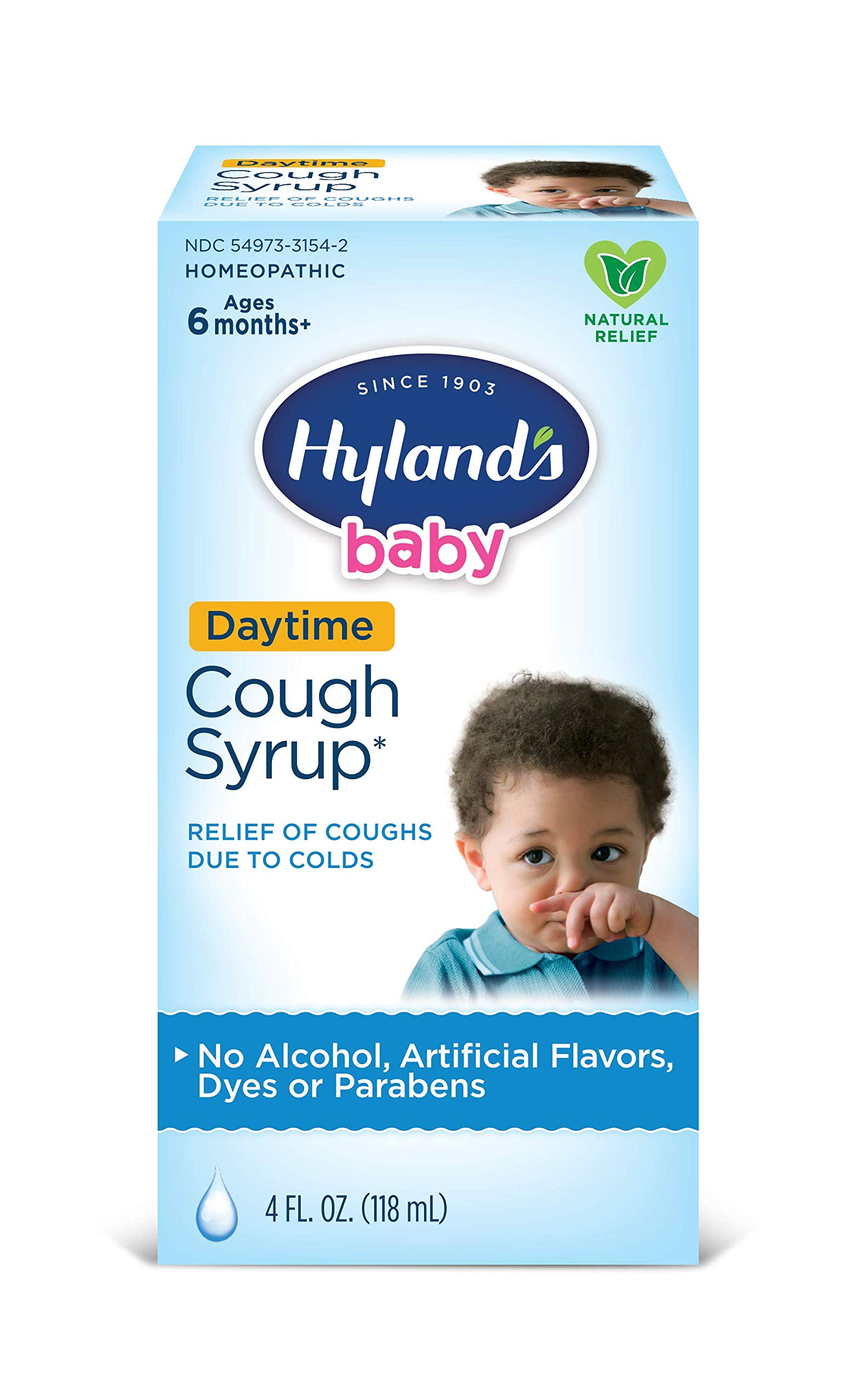 Infant and Baby Cold Medicine, Cough Syrup, Hyland's Baby, Natural Relief of Coughs Due to Colds, 4 Fl Oz