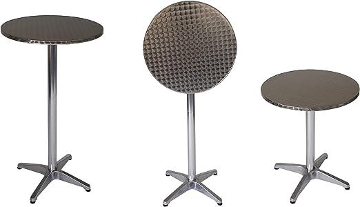 Marcel - Mesa redonda (60 cm de diámetro, aluminio, tablero de ...