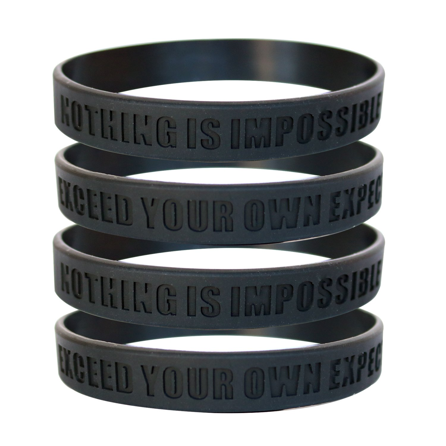 Inkstone Basketball Silicone Wristbands with Motivational Sayings 6-Pack Basketball Bracelets Jewelry Gifts