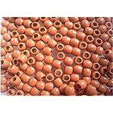 Lot de 50 perles Couleur marron pour création bracelet Rainbow Loom Bands