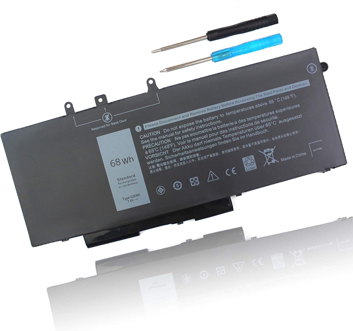 BE·SELL 68Wh 5YHR4 GJKNX Laptop Battery Replacement for Dell Latitude 5280 5480 5490 5491 5580 5590 5591 E5480 E5490 E5580 E5590 Precision GD1JP 0GD1JP DY9NT 0DY9NT 451-BBZG -12 Months Warranty