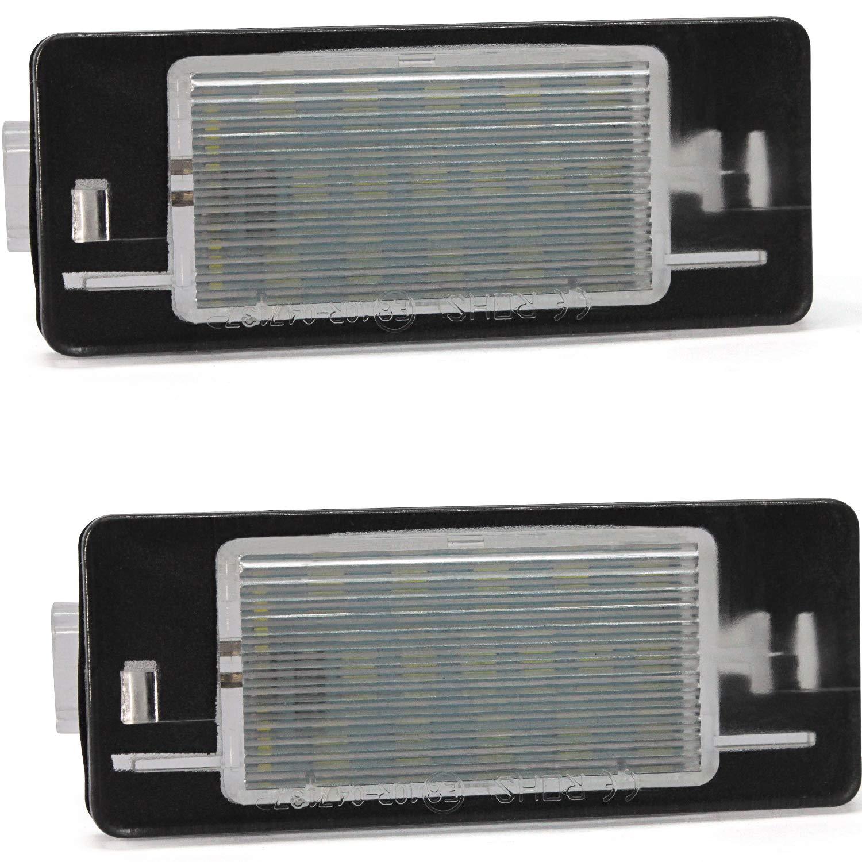 Luci Targa LED,YuanGu 12V LED Luce Targa automobilistica Numero di Targa Luce Targa Lampada 18SMD CANBUS 6000K Xenon bianco per S-koda Octavia II Facelift 2009-2012