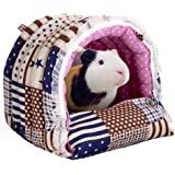 Mkono Cozy Warm Hammock Hanging Tent Bed House Habitats Cage for Pet Rabbit/guinea Pig/galesaur/hamster/Chinchilla