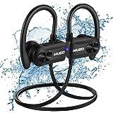 Donerton Cuffie Bluetooth Sport, IPX7 Impermeabile, Auricolari Wireless con Microfono, Cuffie Running CVC 6.0 per Palestra, Custodia per Il Trasporto, 10 Ore di Gioco