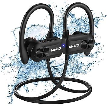 Auriculares Bluetooth Deportivos Impermeable IPX7 Cascos Inalambricos Auricular Running Deporte Correr con Micrófono,10 hrs de Reproduccion Cancelación de ...