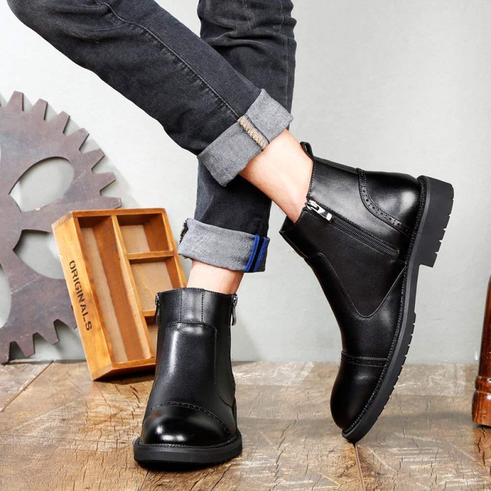 Herren Stiefeletten Fashion Fashion Fashion Retro Runde Stiefel Martin Stiefel (Farbe   2, Größe   40EU) cd7211