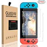 Sanbee Protector Nintendo Switch 2017, Cristal Switch Mica de Pantalla Vidrio Templado 9H Doble-Reforzado Dureza Screen Prote