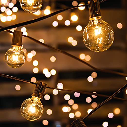 Avoalre Outdoor Fairy Lights 33ft 10m 30 Incandescent Bulbs G40 Globe String Lights Ip65 Waterproof Plug In Rope Lights For Outdoor Decoration Backyard Garden Patio Bedroom Christmas Parties Amazon Co Uk Lighting