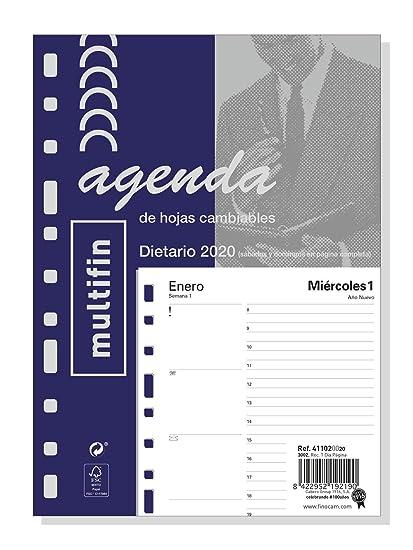 Finocam - Recambio Anual 2020 1 día página Multifin 3002 ...