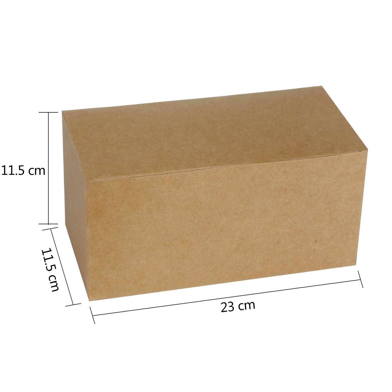 RUSPEPA Cajas De Regalo De Cartón Reciclado: Caja Decorativa con Tapas para Regalos, Fiesta, Boda - 23X11.5X11.5 Cm - Paquete De 30 - Kraft