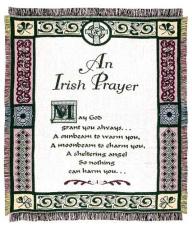 Amazon.com: Simply Home An Irish Prayer Religious Afghan Throw ...