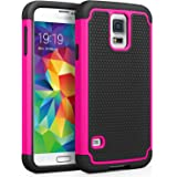 Galaxy S5 Case, SYONER [Shockproof] Hybrid Rubber Dual Layer Armor Defender Protective Case Cover for Samsung Galaxy S5 S V I