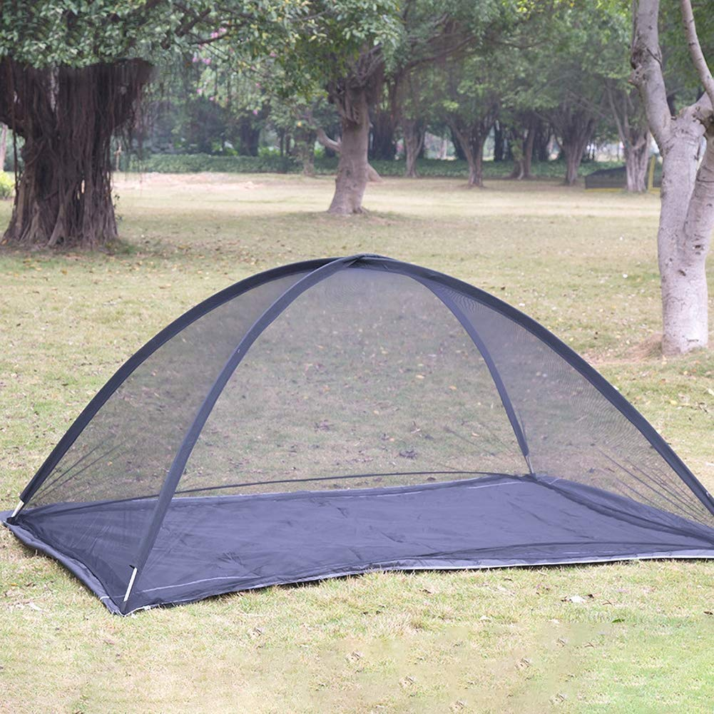 Large Double Bed Free-Standing Mosquito Net Tent for Outdoor, Beach, Hiking, Traveling, Backyard,Quick Easy Installation by dehong (Image #2)