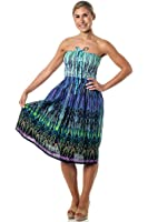 One-size-fits-most Tube Dress/Coverup - Tribal Sparks (many colors)