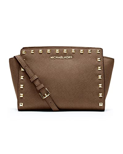 04a985a3f8da73 Michael Kors Selma Medium Stud Crossbody Handbag Dark Dune: Handbags:  Amazon.com