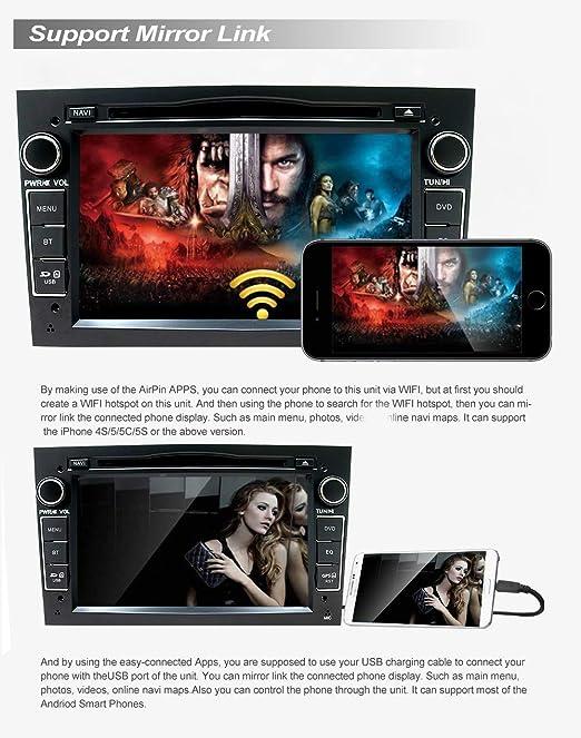 SWTNVIN Android 10.0 Unidad de Audio estéreo para Opel Vauxhall DVD Pantalla táctil HD de 7 Pulgadas IPS navegación GPS con Control de Volante ...
